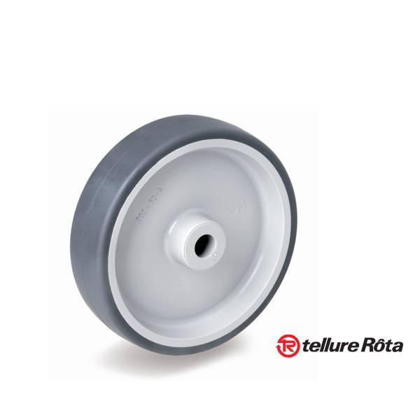 Колесо Tellure Rota 711106 под ось (d=200мм, г/п=225кг), серая резина / полипропилен, Италия: купить, цены, характеристики – Склад-Сервис